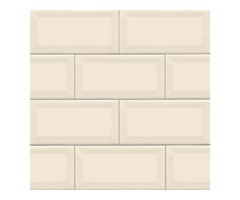 Shop For Almond 3X6 Beveled Glossy Subway Tile
