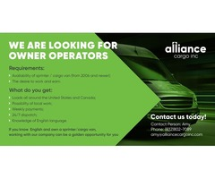 Alliance Cargo looking for owners/operators
