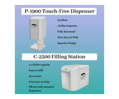 Best Hand Sanitizer Dispenser - Raintree P-1900 & Filling Station - Raintree C-2500