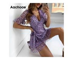 Beach Chiffon Mini Dress