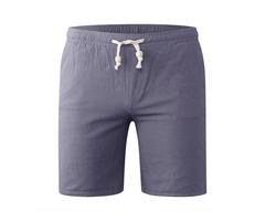 Spring Summer Men's Casual Cotton Linen Shorts