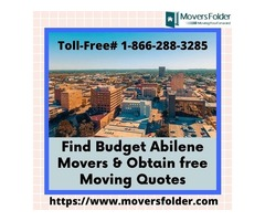 Find Budget Abilene Movers & Obtain free Moving Quotes