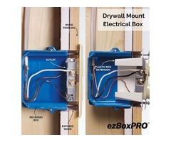 Buy And Install Drywall Mount Electrical Box USA  Drywall Mounted Junction Box