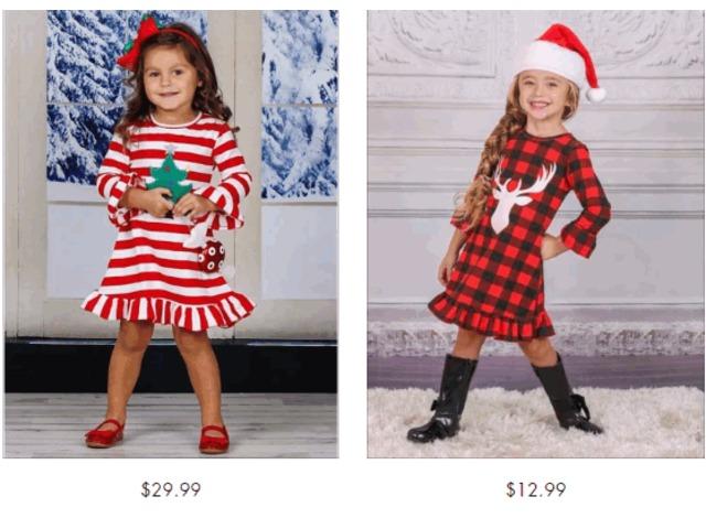 Girls Red Christmas Dress - Miabellebaby | free-classifieds-usa.com