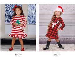 Girls Red Christmas Dress - Miabellebaby