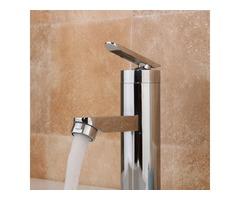 Brushed Chrome Waterfall Bathroom Basin Faucet Single Handle Sink Mixer Tap
