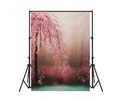 7x5ft Romantic Flower Vinyl Photography Background Photo studio Backdrop Props