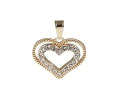 Heart CZ Stones Pendant