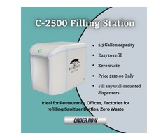 Raintree C-2500 Filling Station | Best Hand Sanitizer