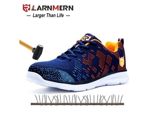 LARNMERN LIGHTWEIGHT BREATHABLE MEN SAFETY SHOES STEEL TOE WORK SHOES FOR MEN. | free-classifieds-usa.com