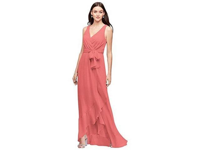 ALICEPUB FAUX WRAP V-NECK CHIFFON BRIDESMAID DRESSES LONG PROM FORMAL DRESS. | free-classifieds-usa.com