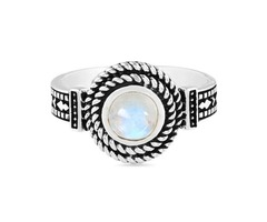 925 SILVER MOONSTONE RING-NEAT ENTICEMENT