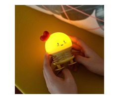 Creative LED Cartoon Spring Switch Rabbit Deer Night Light for Children Toy Pressure Relief Gift