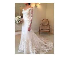 Mermaid Lace Wedding Dress with Long Sleeve