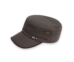 Pure Color Cotton Sunshade Mens Military Hat