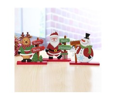 Old Man Snowman Elk Christmas Ornaments Room Table Home Decorations