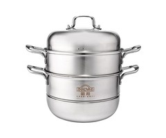 Stainless Steel 3 Tier Steamer Pot Induction Stock Lids Soup Kitchen Cookware