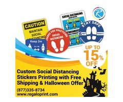 Custom Social Distancing Stickers With Free Shipping & 15% Halloween Offer – RegaloPrint