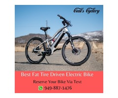 Best Fat Tire Driven Electric Bike Newport Beach