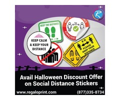 Avail 15% Halloween Discount Offer on Social Distance Stickers – RegaloPrint