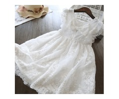 SUMMER GIRLS DRESS KIDS EMBROIDERY LACE DRESSES PRINCESS GIRL PARTY