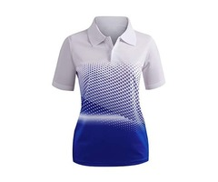 CLOVERY Women's Active Wear Short Sleeve Shirt.