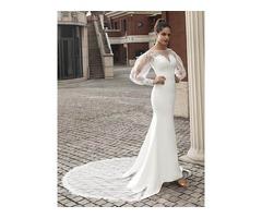 Long Sleeves Appliques Lace Mermaid Wedding Dress 2020