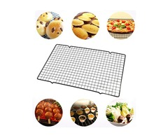 Stainless Steel Wire Grid Cool Rack BBQ Cake Safe Oven Kitchen Baking Tools Cooling Rack Baking Tool