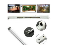 45CM T8 UVB Reptile Fluorescent Tube LED Bar Lamp Socket Bulb Adapter Stand with Wire Clip Holder