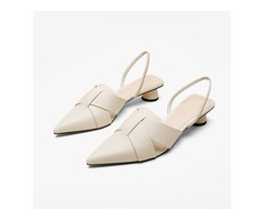 Chunky Heel Pointed Toe Slip-On Casual Sandals