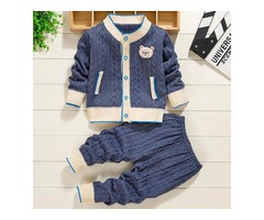 BABY CLOTHES KNIT SWEATER AUTUMN WINTER CABLE SCHOOL UNIFORM BABY SETS CASUAL GIRL OUTFITS.
