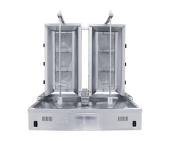 Duel Commercial Vertical Broiler with 3 Burner Each - Counter Top