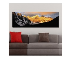 DYC 10352 Single Spray Oil Paintings Golden Snow Photography For Home Decoration Paintings Wall Art