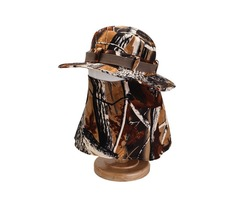 Mens Cotton Face Protection Bucket Hat Outdoor Fishing Hat