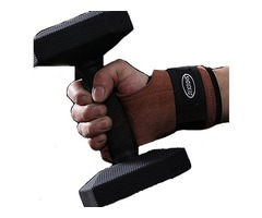 KALOAD Cowhide Brown Fitness Gloves Anti-slide Pull-up Wristband Hand Protector Hand Gripper Gym Glo