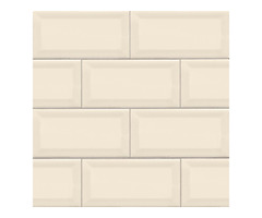 Shop For Online Almond 3X6 Beveled Glossy Subway Tile