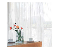 Buy Sheer Curtains White Only at Voila Voile