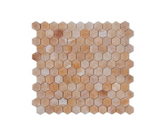 Shop For Online Pineapple Onyx Hexagon 1x1 Polished Mosaic