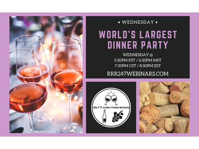 Come Join our LIVE Wine & Dine Show every Wednesday | free-classifieds-usa.com