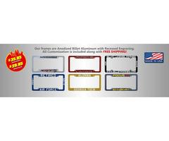Billet Frames - PersonalizedBlack License Plate Frames