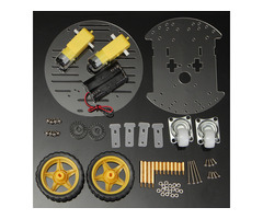 2WD Mini Round Double-Deck Smart Robot Chassis Car DIY Kit for Arduino