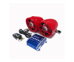 Motorcycle Blue Tooth Wireless Radio With LED Light USB Charger FM Audio Speaker