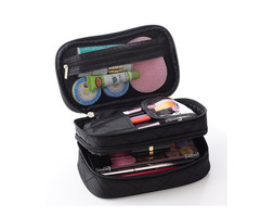 4 Colors Double Layers Cosmetic Bag Toiletry Storage