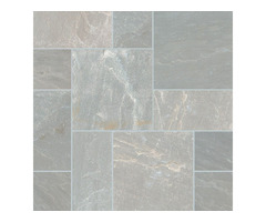 Shop For Nova Gray 160 Sft Natural Tumbled Versailles Pattern Pavers