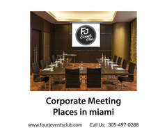 Corporate Meeting places in miami