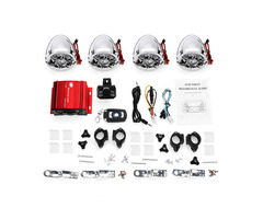 Motorcycle Amplifier System ATV+4 Chrome Horns Speaker with bluetooth Function