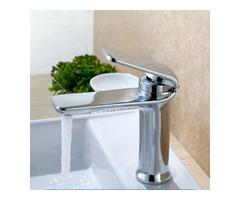 Simple Hot Cold Single Handle Water Faucet Bathroom Basin Sink Mixer Tap Deck Mount 4 Colors