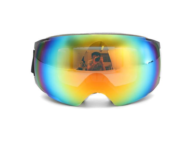 Double Lens Snowboard Ski Goggles Magnet UV Protection Anti Fog White Frame   free-classifieds-usa.com