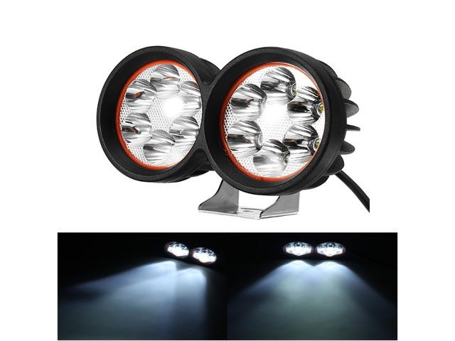 12-80V 1000lm 40W Motor Bike Scooter Headlamp Bicycle ATV Spotlight Black White | free-classifieds-usa.com