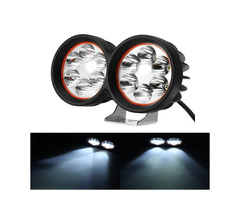 12-80V 1000lm 40W Motor Bike Scooter Headlamp Bicycle ATV Spotlight Black White